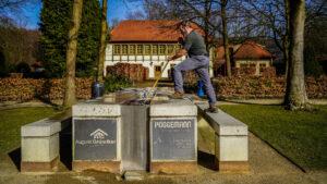 Rosengarten Tisch Reinigung